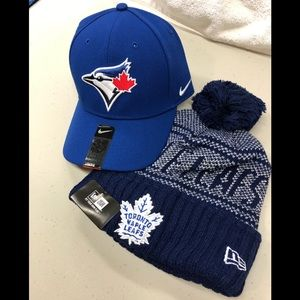 Nike Jays Hat + New Era Leafs Winter Hat (#2)